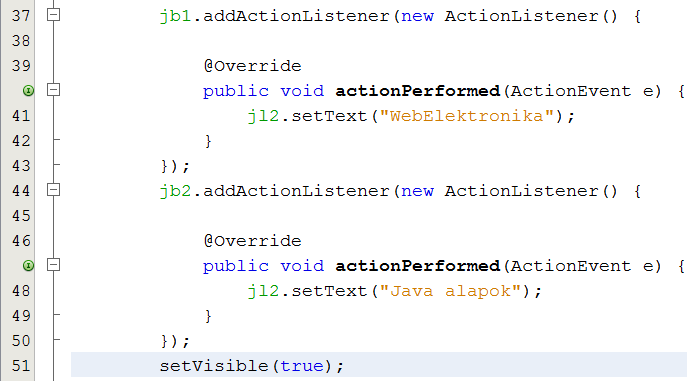 how to add action listener on menuitem in java